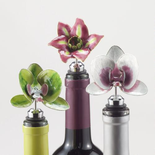 Flower Cloisonne Bottle Stoppers