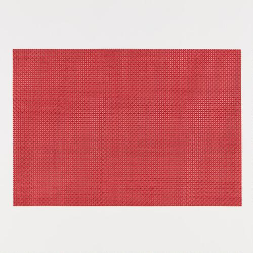 Red Woven Placemats, Set of 4