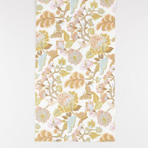 White Butterfly Palampore Table Runner
