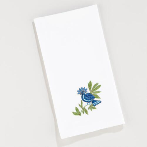 Rio Birds of Paradise Embroidered Napkins, Set of 2