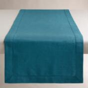 Aegean Blue Hemstitch Table Runner