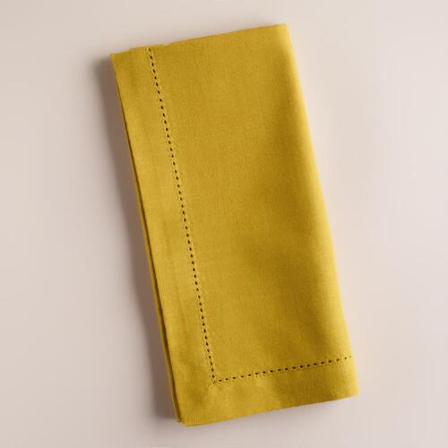 Cress Green Hemstitch Napkins, Set of 4