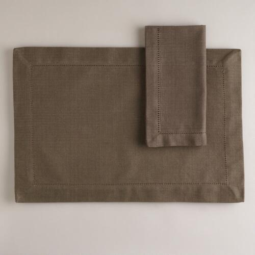 Bark Hemstitch Table Linens Collection