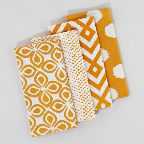Amber Mombasa Napkins, Set of 4
