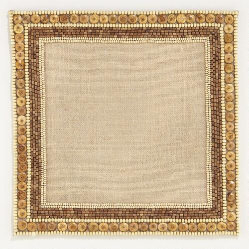 Beaded Square Placemats, Set of 2