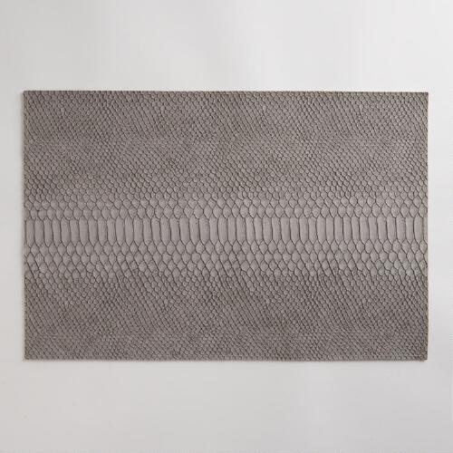 Faux Snake Skin Placemats, Set of 2