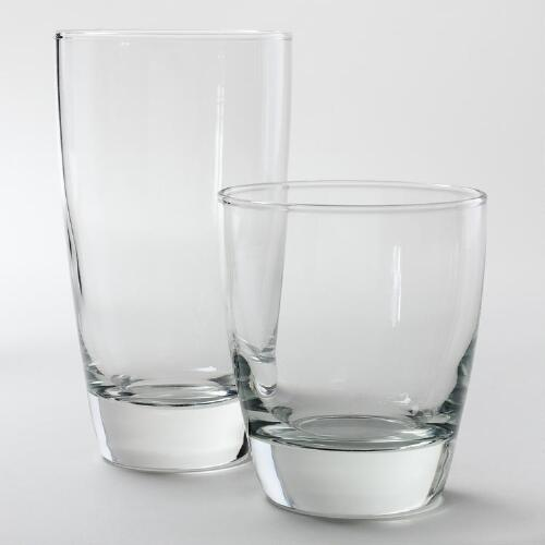Clear Classic Glasses, Set of 4