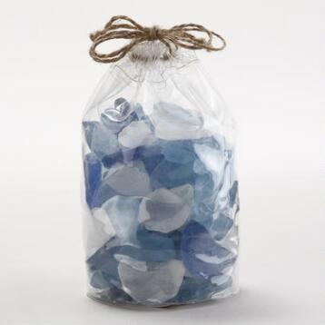 Blue Seaglass Vase Fillers