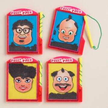 Magnetic Fuzzy Face, Set of 4