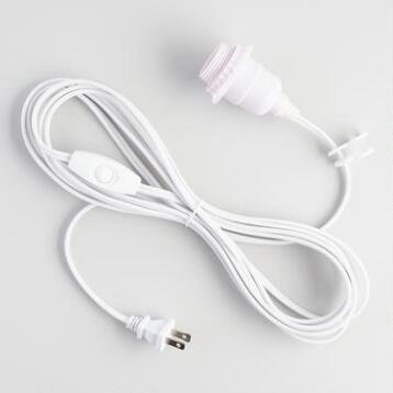 White Electrical Cord Swag Kit