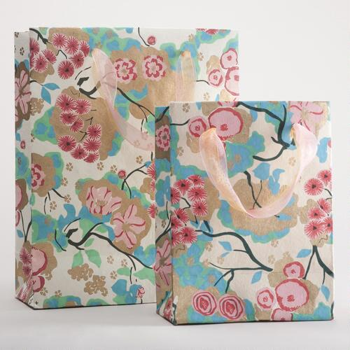 Pink and Turquoise Spring Gift Bags