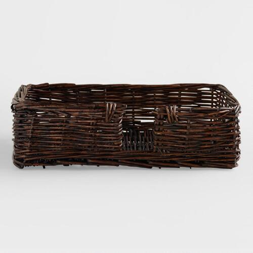 Brown Guest Napkin Basket