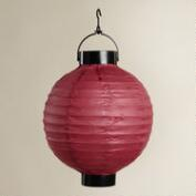 Red Battery-Operated Paper Lanterns, Set of 4