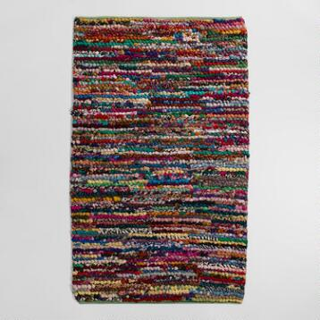 3'x5' Multicolor Loop Chindi Rug