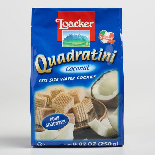 Loacker Coconut Quadratini Wafers