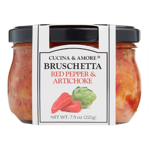 Cucina & Amore Piquillo Pepper Bruschetta, Set of 6