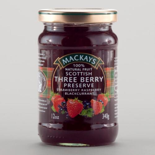 Mackays Scottish Three Berry Preserves, Set of 6