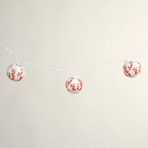 Cherry Blossom Lantern String Lights