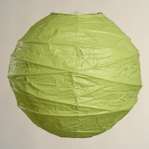 Lime Green Round Maru Paper Lanterns