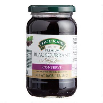 Duerr's Blackcurrent Preserves, Set of 6