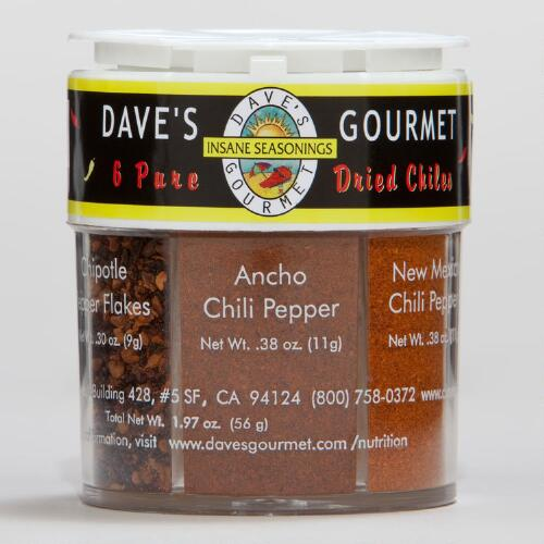 Daves Gourmet 6 Pure Dried Chiles