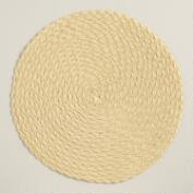 Wheat Round Polybraid Placemats, Set of 4