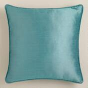 Aegean Dupioni Throw Pillow with Piping