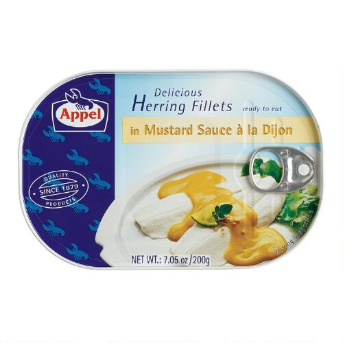 Appel Herring Fillets in Dijon Mustard Sauce, Set of 5