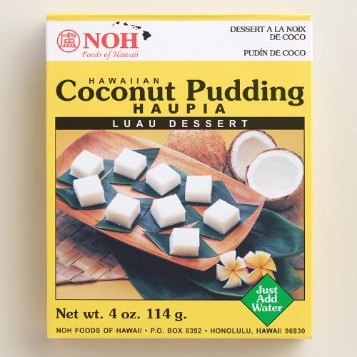 Noh Hawaiian Coconut Pudding Haupia Mix, Set of 6