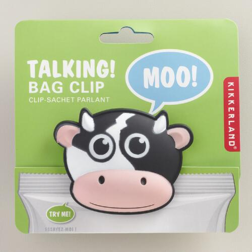 Talking Cow Bag Clip