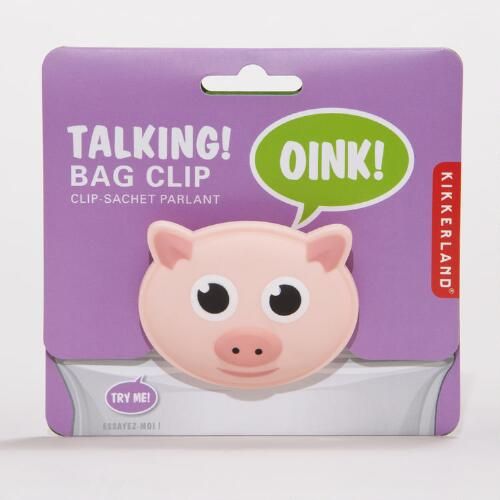 Talking Pig Bag Clip