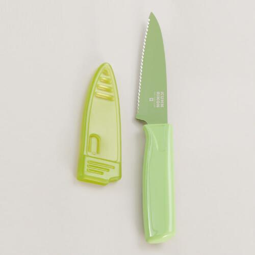 Green Kuhn Rikon Colori Serrated Knife