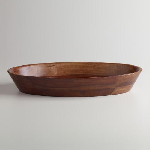 Oval Sheesham Salad Bowl