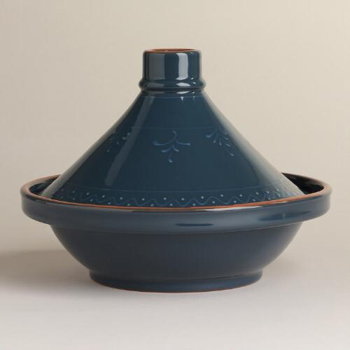 Dark Teal Glazed Tagine