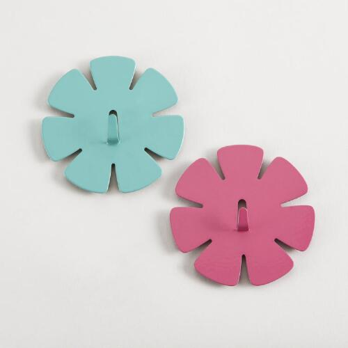 Magnetic Flower Hooks, Set of 2