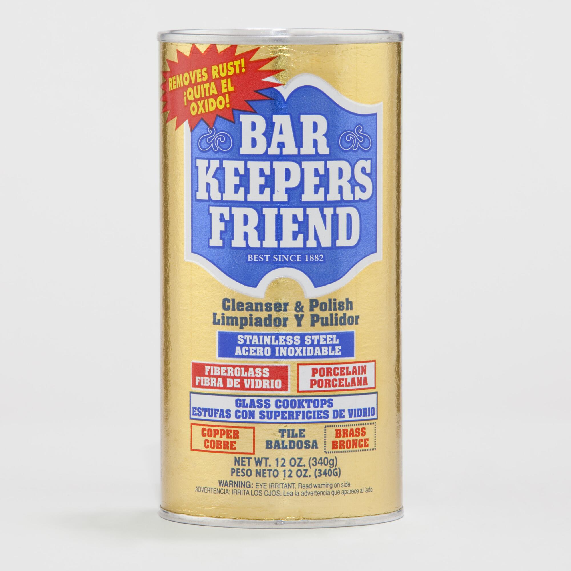 Bar Keepers Friend Cleanser and Polish, 12 Ounce Bar Keepers Friend Bar Keepers Friend MORE oz. Spray + Foam Cleaner With 2 Scotch-Brite Non-Scratch Scrub Sponges Multipurpose Cleaner. by Bar Keepers Friend. $ $ 13 FREE Shipping on eligible orders. out of 5 stars