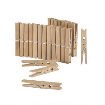 Bamboo Clothespins, 24-Count