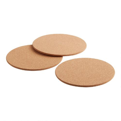 Round Cork Trivet, Set of 3