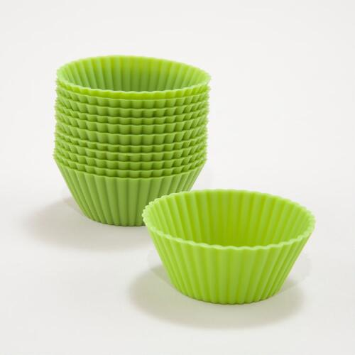 Green Silicone Mini Muffin Cups