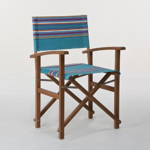 Pagoda Stripe Bali Club Chair Canvas