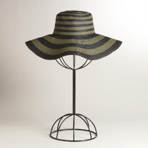 Olive and Black Sunhat