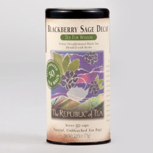 The Republic of Tea Decaf Blackberry Sage Tea, 50-Count