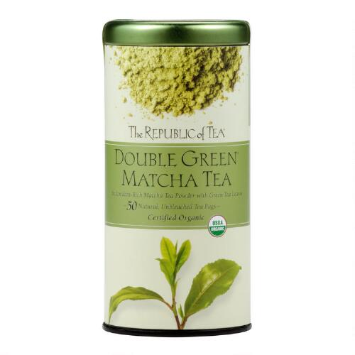 The Republic of Tea Double Green Matcha Tea, 50-Count