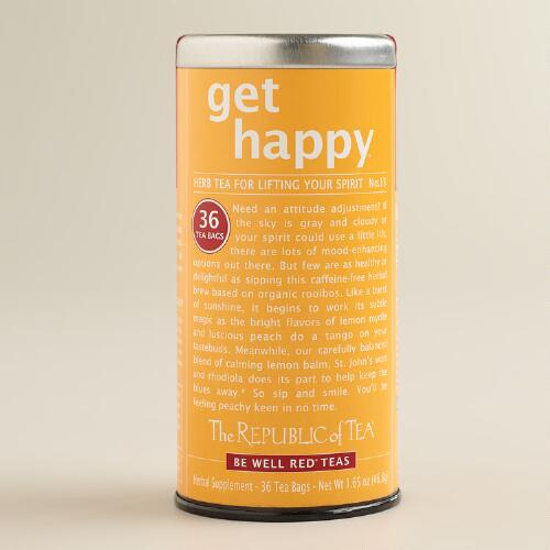 The Republic of Tea Get Happy Be Well Red Tea, 36-Count