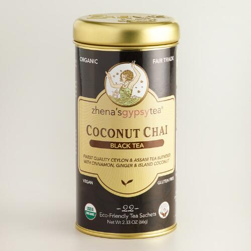 Zhenas Gypsy Tea Coconut Chai Tea, 22-Count Tin