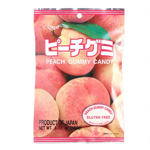Kasugai Peach Gummy Candy, Set of 12