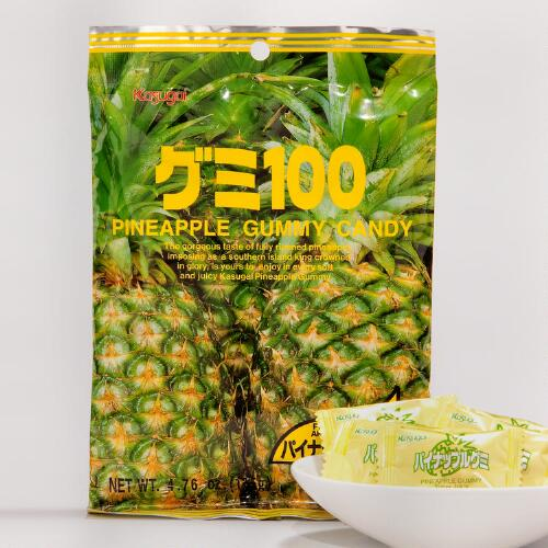 Kasugai Pineapple Gummy Candy, Set of 12