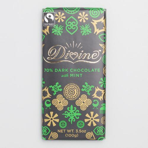 Divine 70% Mint Dark Chocolate, Set of 2