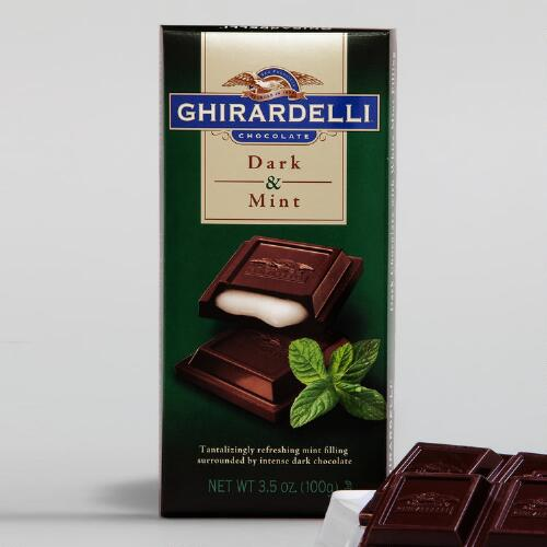Ghirardelli Dark Chocolate Mint Filled Bar