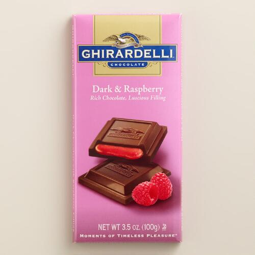 Ghirardelli Dark Chocolate Raspberry Filled Bar